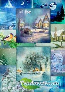 Зимние винтажные фоны для фотошопа - Зимний сон