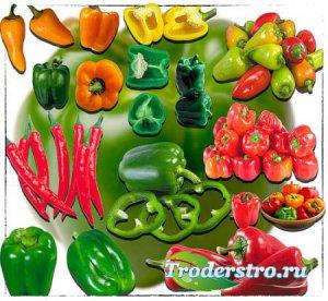 Растровые клипарты - Красный и зеленый перец