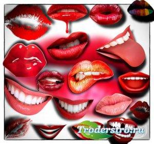 Клип-арты на прозрачном фоне - Поцелуи и улыбки
