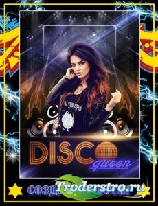 Создаем в Фотошоп постер «Королева Disco»