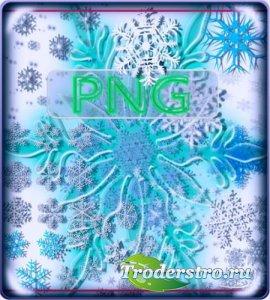 Клип-арты png - Снежинки к новому году