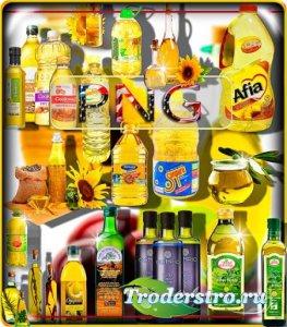 Клип-арты картинки - Подсолнечное и оливковое масло