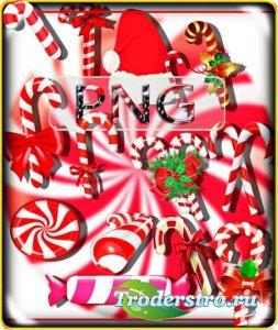 Клип-арты для фотошопа - Новогодние сладости