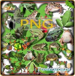 Клипарты для фотошопа - Лягушки и жабы