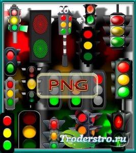 Png Клипарты - Яркие светофоры