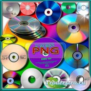 Клипарты png - Dvd и cd диски