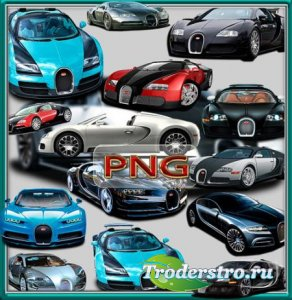 Клипарты png без фона - Bugatti