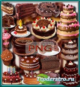 Клип-арты для фотошопа - Шоколадные торты