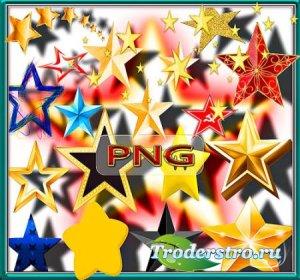 Клипарты для фотошопа - Пятиконечные звезды