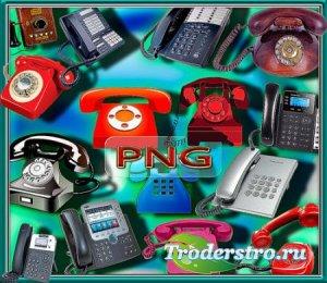 Растровые клипарты - Стационарные телефоны