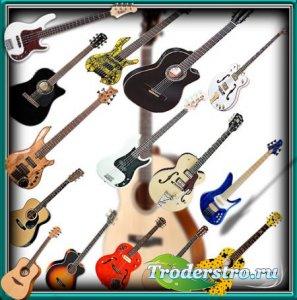 Клипарты для фотошопа - Модные гитары