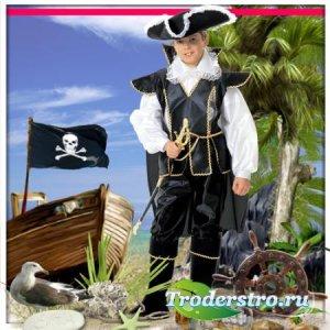 Шаблон для фотошопа - Юный пират