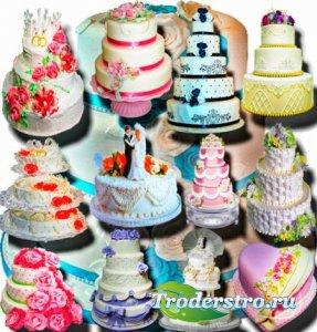Растровые клипарты - Свадебные торты