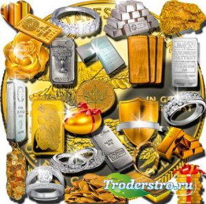 Растровые клипарты - Золото и серебро