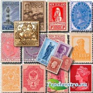 Клипарты на прозрачном фоне - Почтовые марки