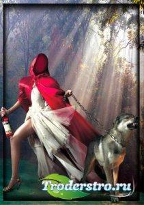 Шаблон для photoshop - Красная шапочка