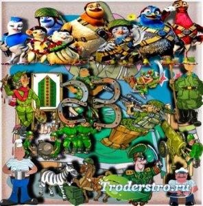 Png для фотошопа - Рисованые солдаты