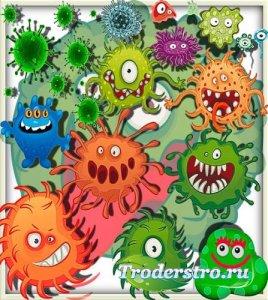 Png для фотошопа - Злые вирусы