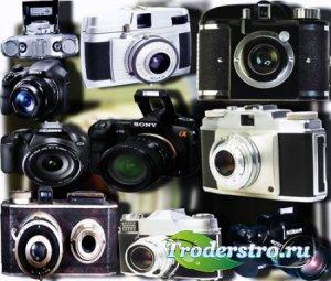 Прозрачные клипарты для фотошопа - Старые фотоаппараты