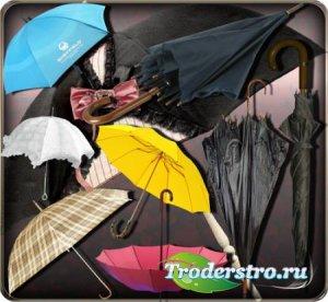 Клипарты на прозрачном фоне - Стилные зонты