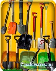 Клипарты для фотошопа - Пластиковые и металические Лопаты