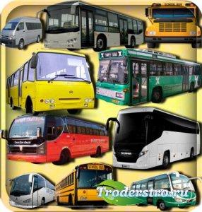 Растровые клипарты - Пассажирские автобусы