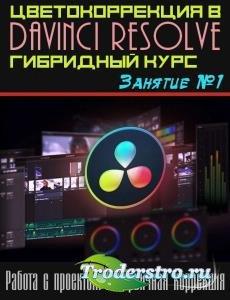 Цветокоррекция в Davinci Resolve. Гибридный курс. Занятие №1