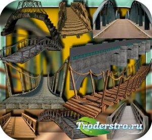 Клипарты для фотошопа - Мосты разных видов