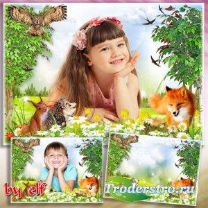 Детская фоторамка - Лесные тропинки