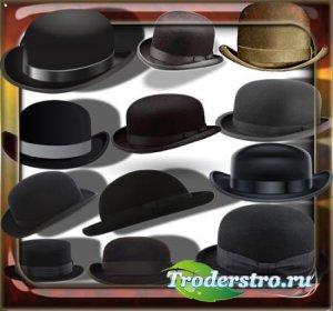 Прозрачные клипарты для фотошопа - Ретро шляпы