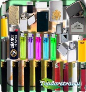 Прозрачные клипарты для фотошопа - Газовые и бензиновые зажигалки
