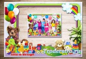 Рамка в формате PNG для фото группы детей в детском саду - Наш любимый детс ...