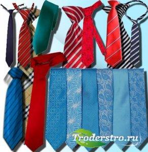 Прозрачные клипарты для фотошопа - Модные галстуки