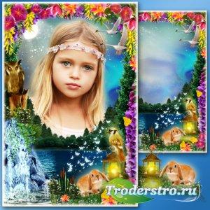 Рамка для Фотошопа - Озёрное чудо