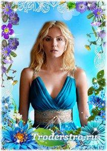 Цветочная рамка - Летние цветы