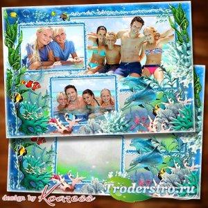Рамка для коллажа из летних фото - Море, я к тебе бегу
