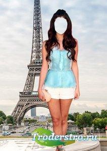 Шаблон psd для девушки - Лето в Париже