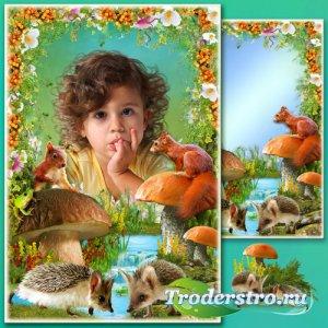 Рамка для Фотошопа - Лесные истории 2
