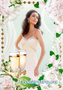 Фоторамка psd для свадебной фотографии - Жемчуг для невесты