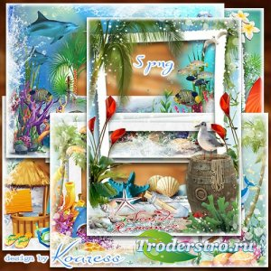 Рамки png для летних фото с моря - Плещет море, светит солнце - это отпуск, ...