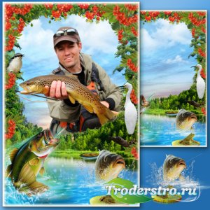 Рамка для Фотошопа - Удачная рыбалка 4