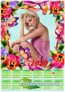Цветочный календарь на 2020 год - Анютины глазки