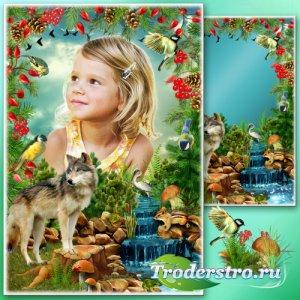 Рамка для Фотошопа - Лесные истории 5