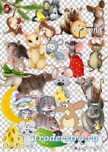Клипарт к году Крысы 2020 - Мыши и крысы на прозрачном фоне