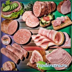 Прозрачные клипарты для фотошопа - Колбасная нарезка