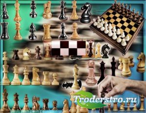 Прозрачные картинки для фотошопа - Шахматы и шахматные доски