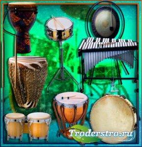 Картинки на прозрачном фоне - Барабаны