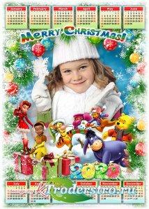 Детский календарь на 2020 год с героями Диснея - Вместе с добрыми друзьями  ...