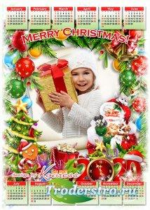 Праздничный новогодний календарь-фоторамка на 2020 - С Новым годом, Рождест ...
