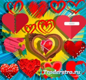 Png клипарты без фона - Любовные сердечки